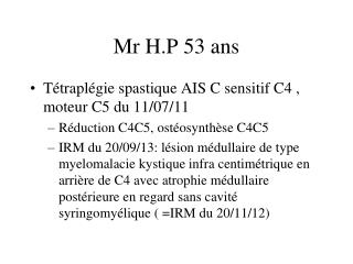 Mr H.P 53 ans