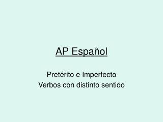 AP Espa ñol