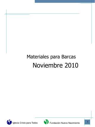 Materiales para Barcas    Noviembre 2010