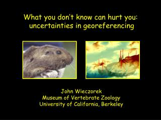 What you don't know can hurt you:  uncertainties in georeferencing
