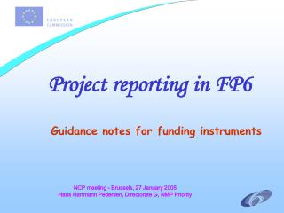 Project reporting in FP6