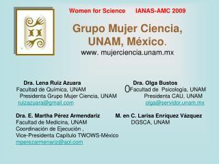 Dra. Lena Ruiz AzuaraDra. Olga Bustos
