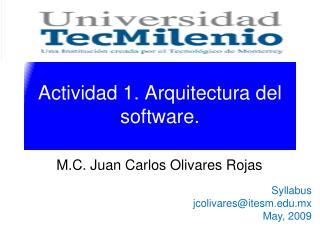 Actividad 1. Arquitectura del software.