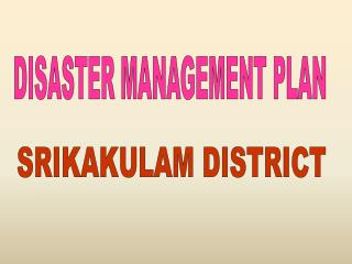 SRIKAKULAM DISTRICT