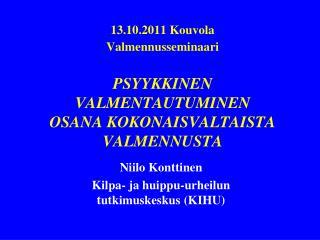 Niilo Konttinen Kilpa- ja huippu-urheilun tutkimuskeskus (KIHU)