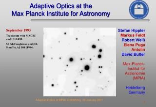 Adaptive Optics at the Max Planck Institute for Astronomy