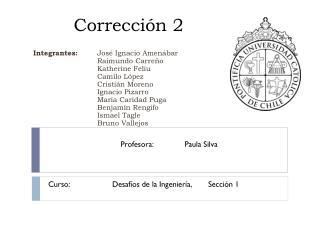 Corrección 2