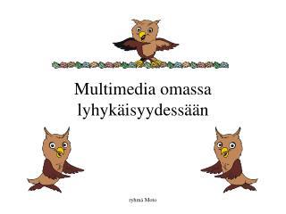 Multimedia omassa lyhykäisyydessään