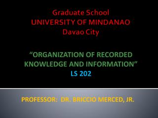 Graduate School   UNIVERSITY OF MINDANAO Davao City