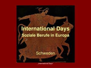 International Days Soziale Berufe in Europa
