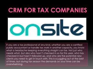 CRM for Tax Companies
