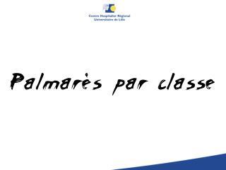 Palmar�s par classe