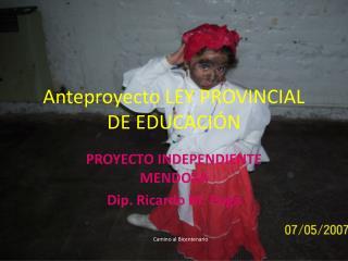 Anteproyecto LEY PROVINCIAL DE EDUCACIÓN