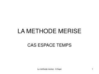 LA METHODE MERISE