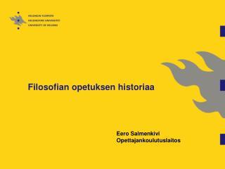 Filosofian opetuksen historiaa