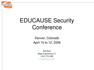 EDUCAUSE Security Conference
