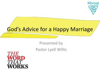 God's Advice for a Happy Marriage