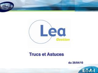 Trucs et Astuces du 26/04/10