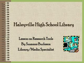 Haleyville High School Library