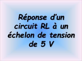 Réponse d'un circuit RL à un échelon de tension de 5 V