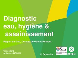 Diagnostic  eau, hygiène  &  assainissement