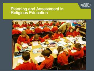 Planning and Assessment in  Religious Education