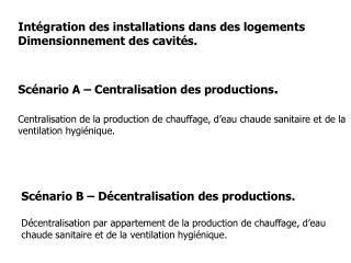 Intégration des installations dans des logements Dimensionnement des cavités.