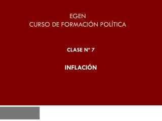EGEN CURSO DE FORMACIÓN POLÍTICA