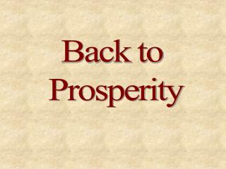 Back to  Prosperity