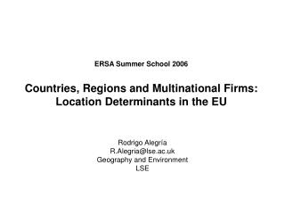 Rodrigo  Alegría R.Alegria@lse.ac.uk Geography and Environment LSE