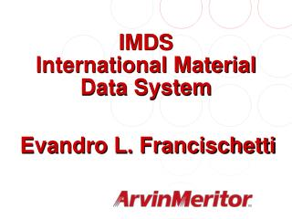 IMDS International Material Data System