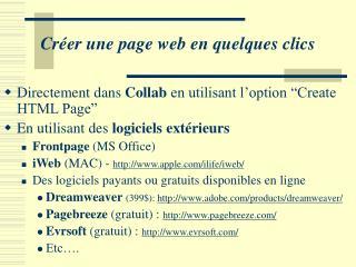 Créer une page web en quelques clics