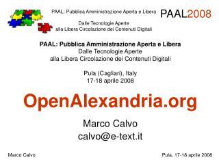 OpenAlexandria Marco Calvo calvo@e-text.it
