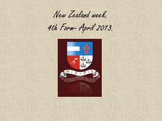 New Zealand week. 4th Form- April 2013.