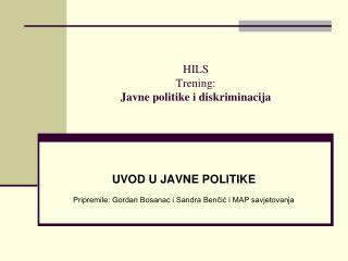 HILS Trening: Javne politike i diskriminacija