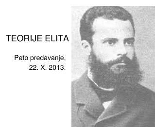 TEORIJE ELITA