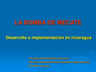 LA BOMBA DE MECATE