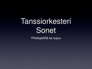 Tanssiorkesteri Sonet
