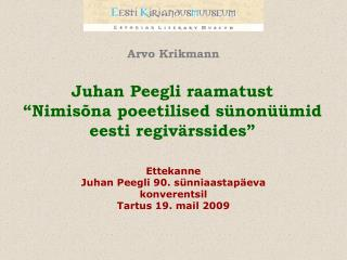 Arvo Krikmann