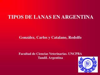 TIPOS DE LANAS EN ARGENTINA