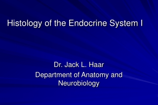 The Endocrine System I