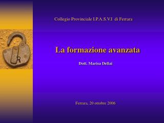 Collegio Provinciale I.P.A.S.V.I  di Ferrara