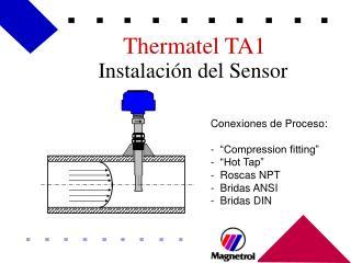 Instalación del Sensor