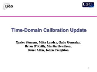 Time-Domain Calibration Update
