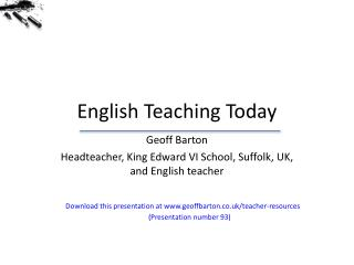 English Teaching Today
