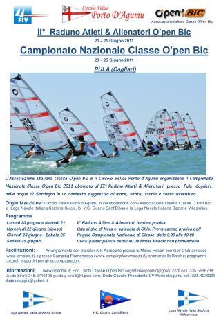 II°  Raduno Atleti & Allenatori O'pen Bic 20 – 21 Giugno 2011