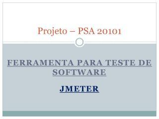 Projeto – PSA 20101