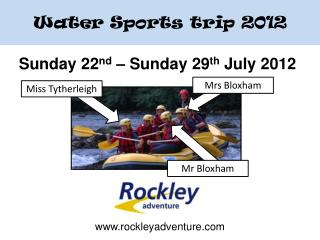 Sunday 22 nd  – Sunday 29 th  July 2012