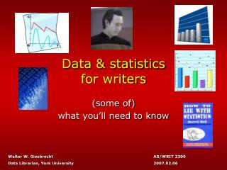 Data & statistics for writers