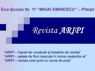 Revista  ARIPI